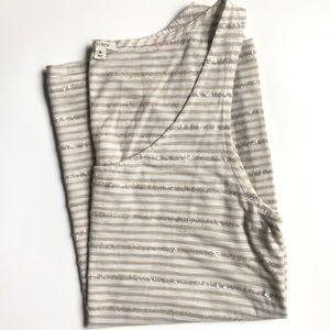 J Crew striped tank with sequin detail size S